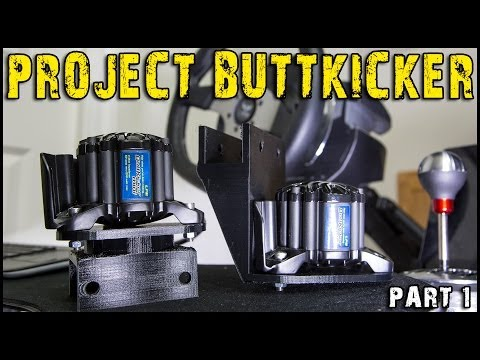 Project SimVibe Buttkicker Racing Cockpit : Part 1