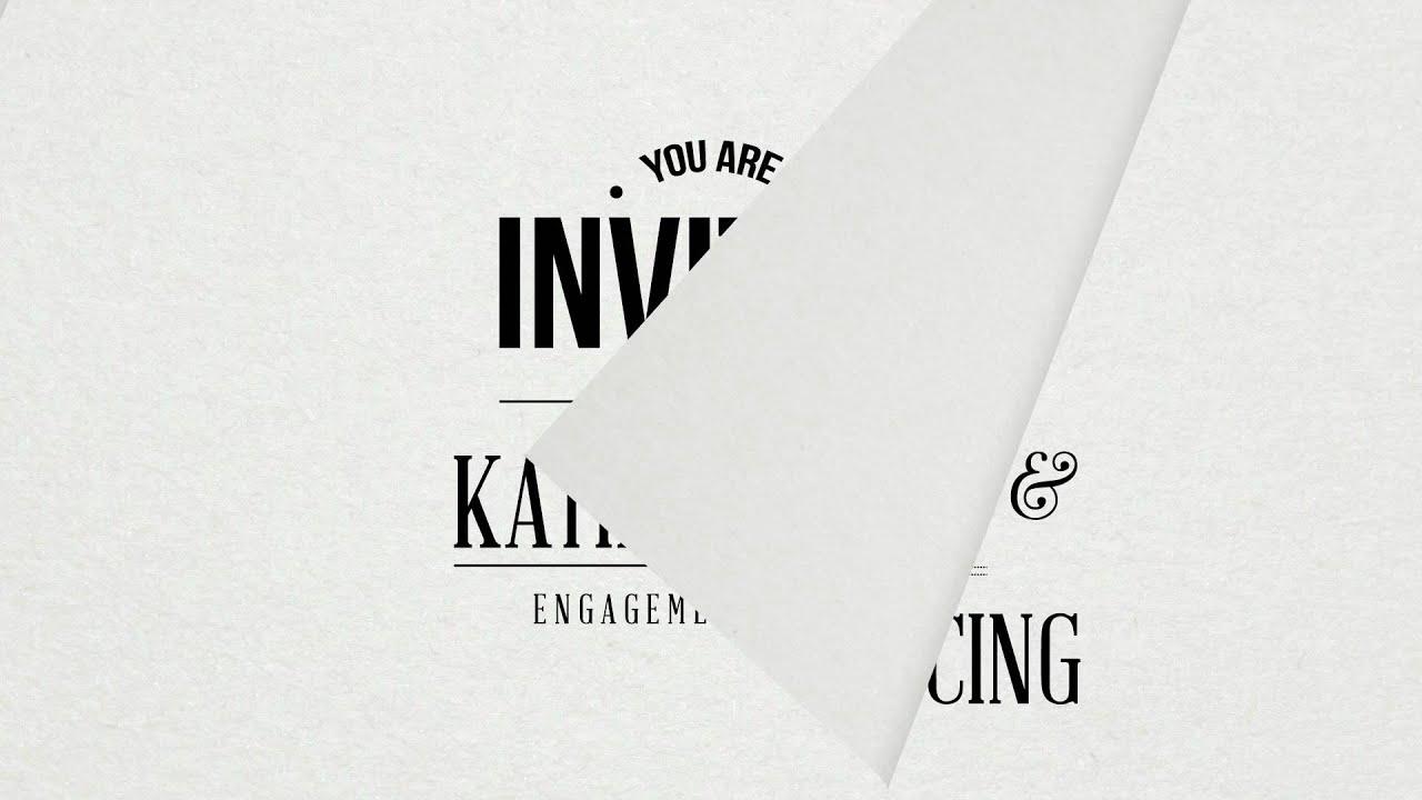 Animated Engagement Party Invitation - YouTube