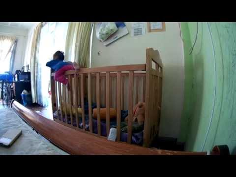 Baby Girl 1 Year Escape From Baby Cot