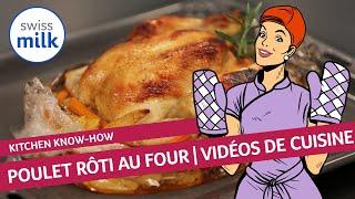 Comment faire un poulet rôti au four? La recette en images avec Swissmilk.