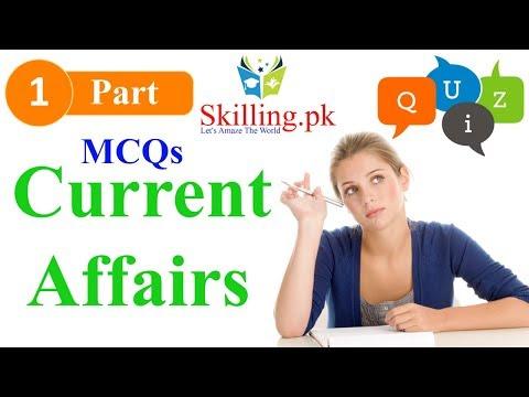 Pakistan Current Affairs MCQs for Preparation Part 1 by