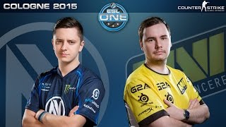 CS:GO - EnVyUS vs. NaVi [Inferno] - ESL One Cologne 2015 - Quarterfinal Map 1