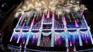 Video Saks 5th Avenue 2017 Holiday Windows Light Show Rockefeller Center New York City 2.7K GoPro download MP3, 3GP, MP4, WEBM, AVI, FLV Desember 2017