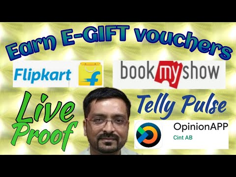 how-to-earn-flipkart-gift-card-|-bookmyshow-gift-vouchers-|-telly-pulse-|-opinionapp-|-live-proof