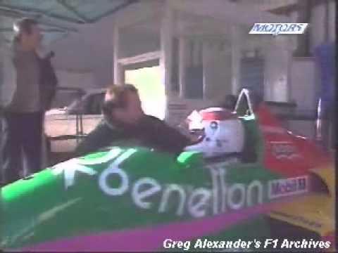 Jackie Stewart Testando Benetton Ford Turbo