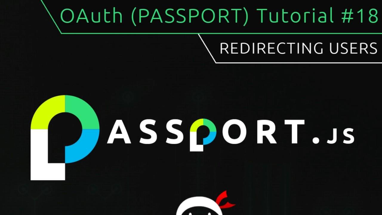 OAuth (Passport js) Tutorial #18 - Redirecting Users