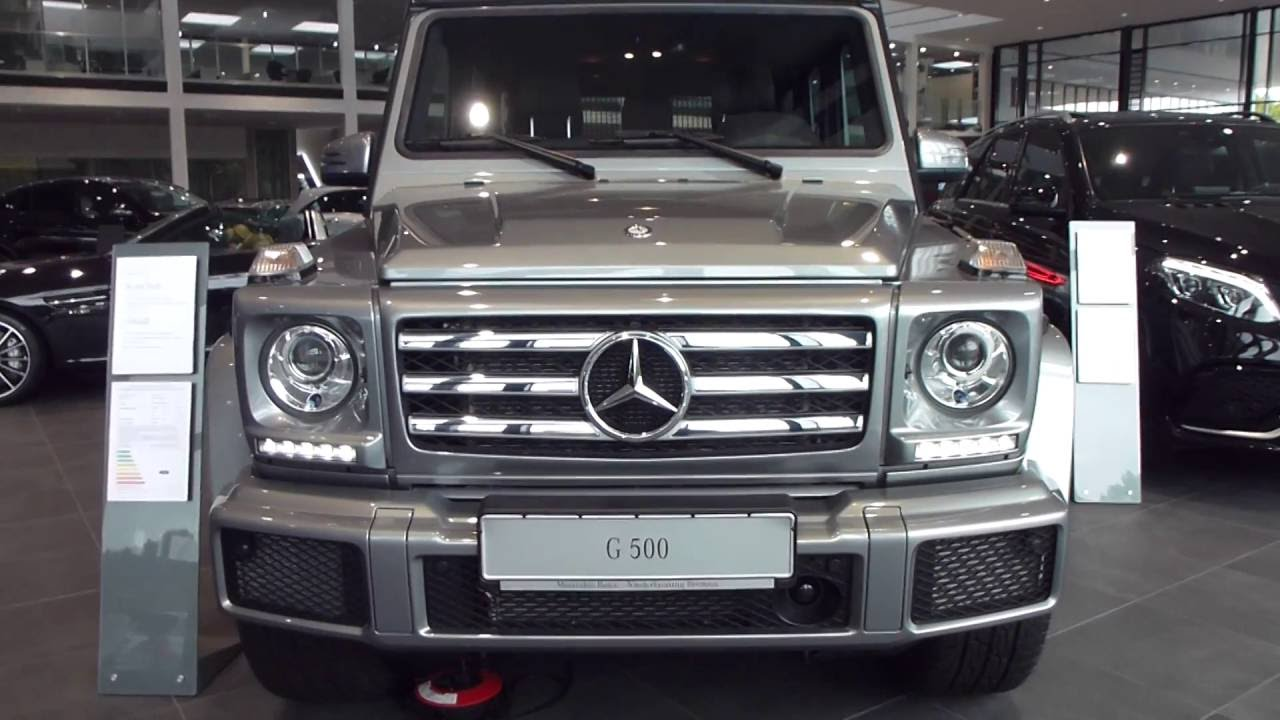 2017 Mercedes G 500 Exterior Interior 4 0 V8 Bi Turbo 442 Hp 210 Km H Playlist You