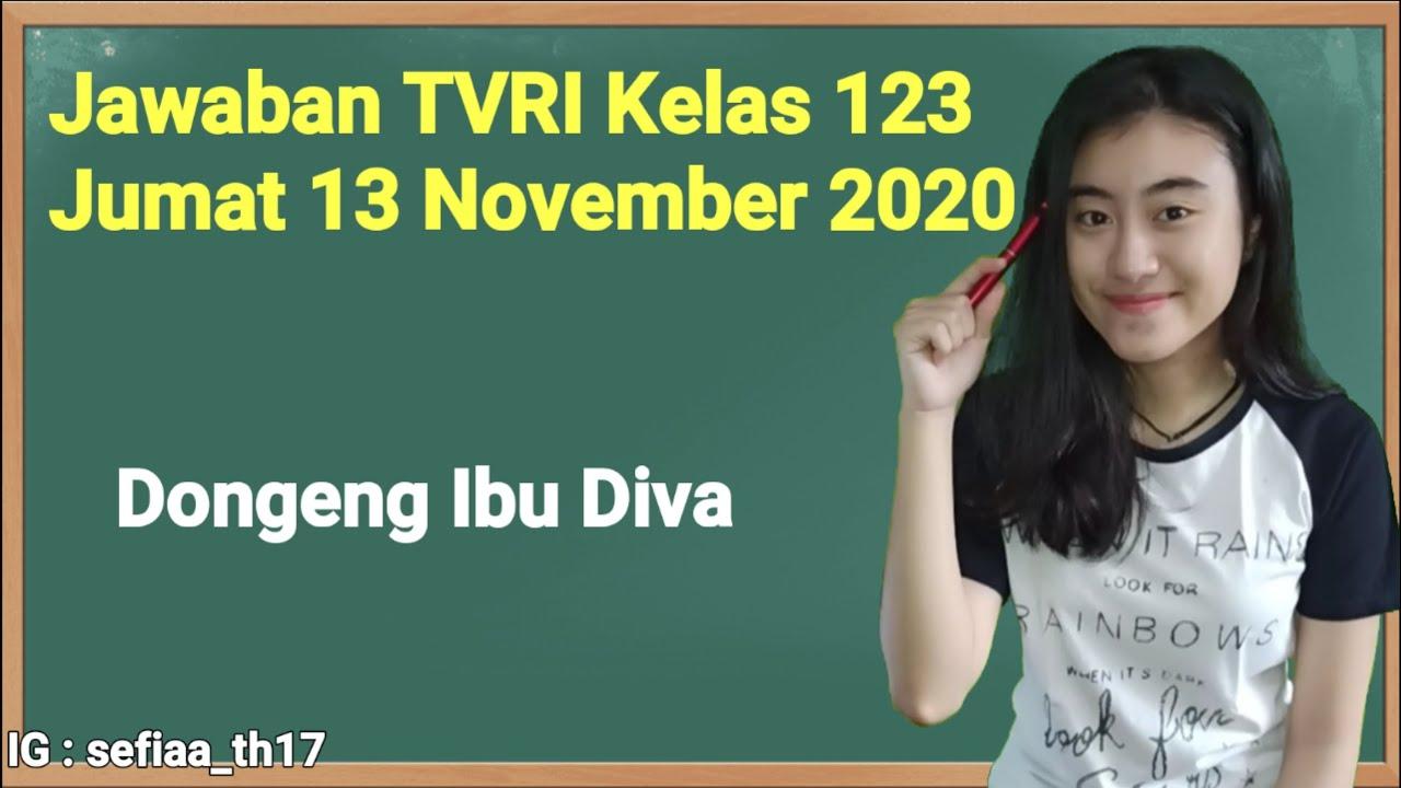 Kunci Jawaban TVRI Kelas 1-2-3 SD Jumat 13 November…