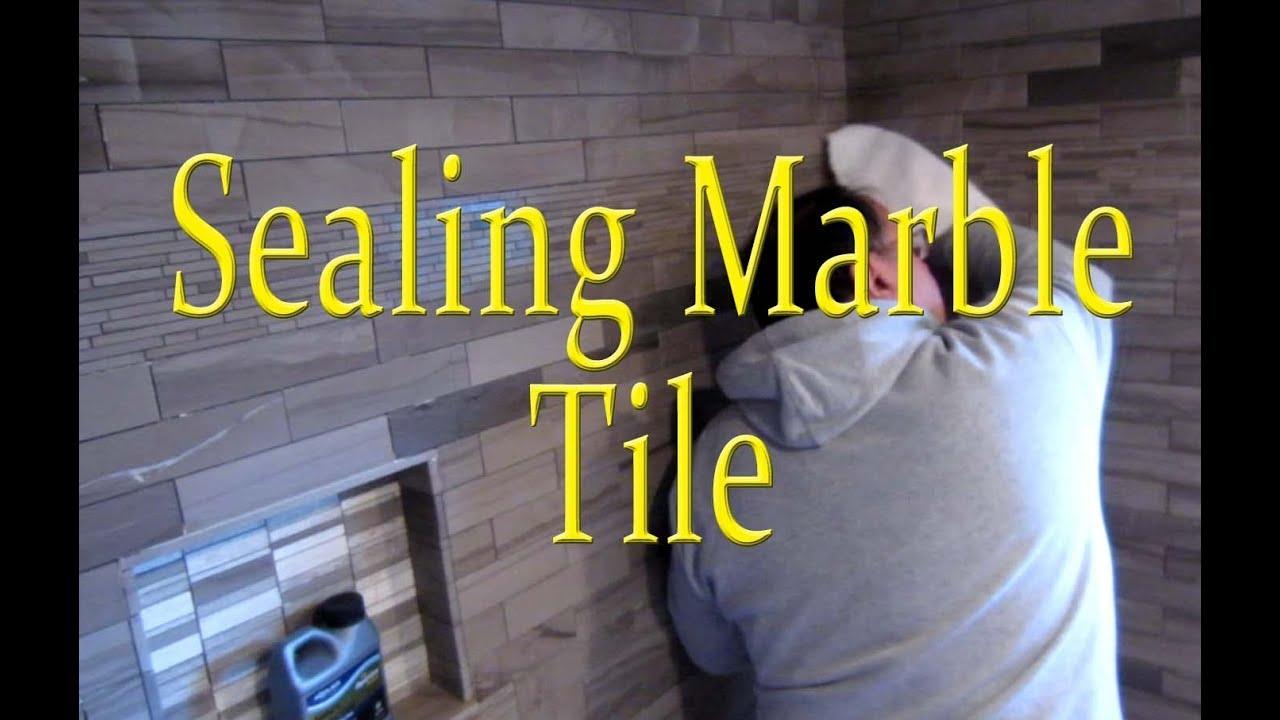 sealing marble tile