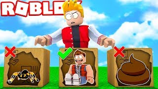 DO NOT CHOOSE THE WRONG BOX ON ROBLOX! (Unboxing Simulator)