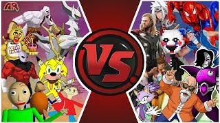 CARTOON FIGHT CLUB ULTIMATE SHOWDOWN 4! (Baldi vs Sonic, FNAF, Dragon Ball & More!) Animation Rewind