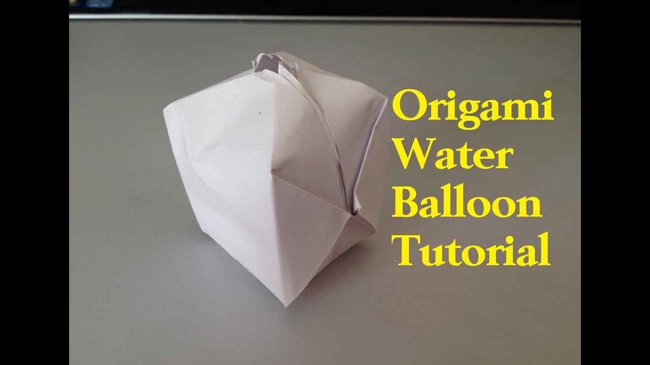 How To Make A Paper Balloon Water Bomb Origami L Jasminestarler