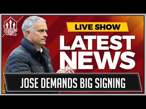MOURINHO Demands BIG MAN UTD Signing! MAN UTD Transfer News