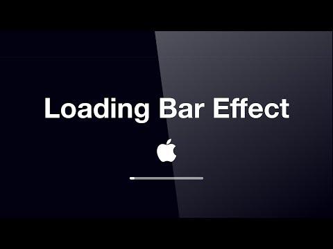 #077 Keynote Loading Bar Animation Macbook MacOS Start Loading Animation Effect #StayHome #WithMe