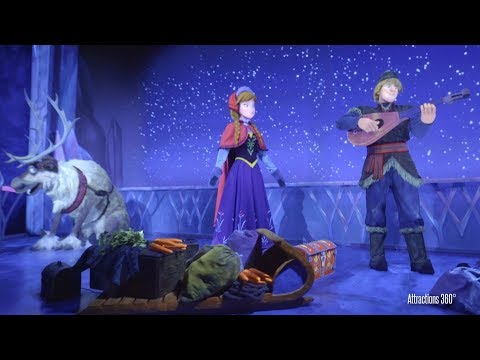 [4K] Frozen Ride - Walt Disney World in Epcot 2017