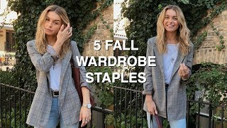 5 FALL WARDROBE STAPLES | how to style fall trends + autumn outfits