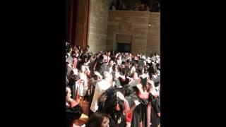 Cagla mezuniyet kep atma hazirligi
