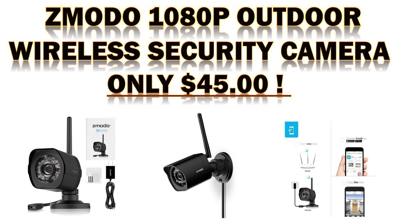 Zmodo 1080p Outdoor Wireless Security Camera Review