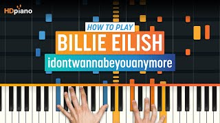 """How To Play """"idontwannabeyouanymore"""" By Billie Eilish 