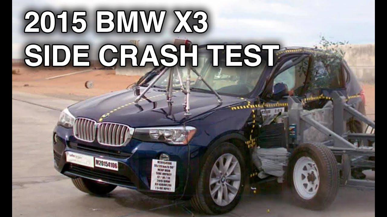 2015 BMW X3  Side Crash Test  YouTube