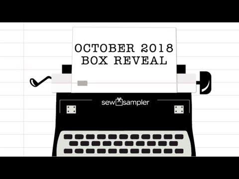"""Fat Quarter Shop's """"Sew Sampler"""" Monthly Subscription Quilting Box - October 2018"""