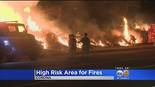 Corona Labeled As High-Risk Fire Area By Southern California Edison