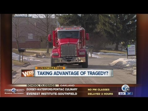 Towing company taking advantage of tragedy?
