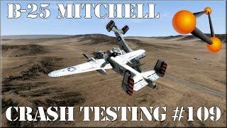 BeamNG Drive B-25 Mitchell WWII Bomber Crash Testing #109
