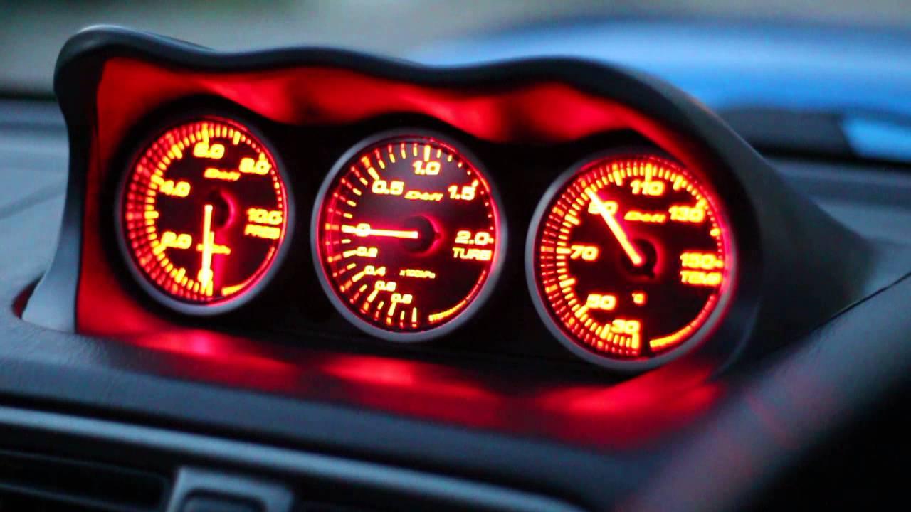 Defi Racer Gauges Startup Amp Endsequence Subaru Impreza