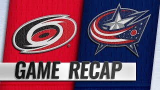 Aho lifts Hurricanes past Blue Jackets