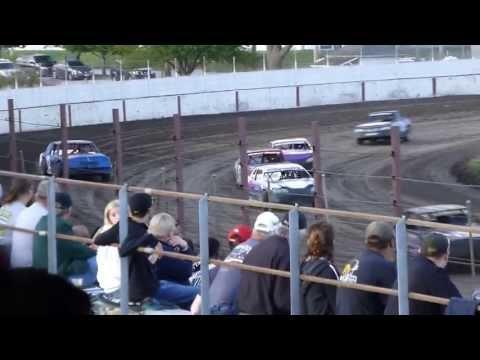 west liberty raceway stock car heat 2 part 1 7/27/13