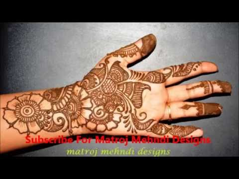 Easy Simple Beautiful Henna Mehndi Designs For Hand Matroj Mehndi