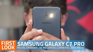 Samsung Galaxy C7 Pro First Look | Mid-Range Smartphone With Metal Unibody, and More