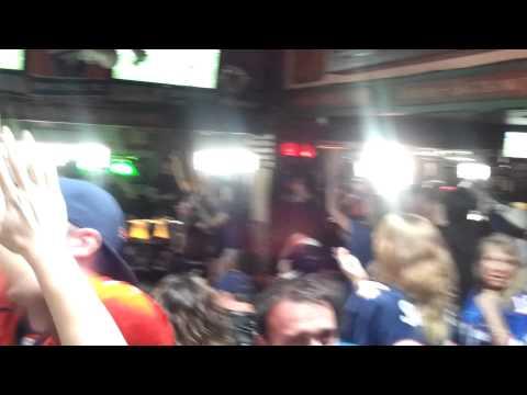 Westside Denver Broncos fans celebrate Tebow Touchdown (2012  Broncos vs Steelers)