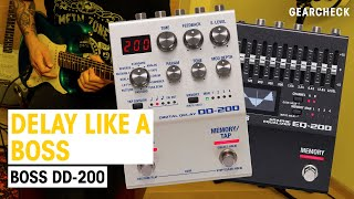 New Boss Series 200 Pedals | DD-200 & EQ-200 | Thomann