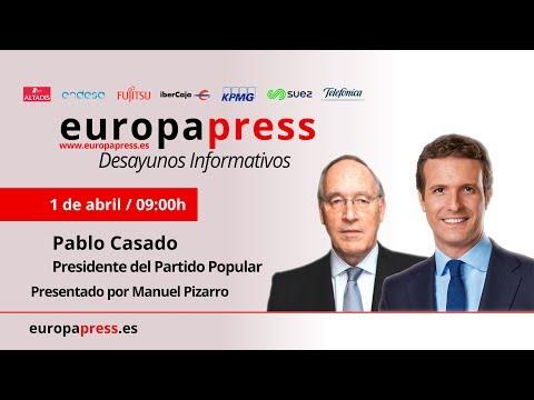Desayuno Informativo de Europa Press con el presidente del Partido Popular, Pablo Casado