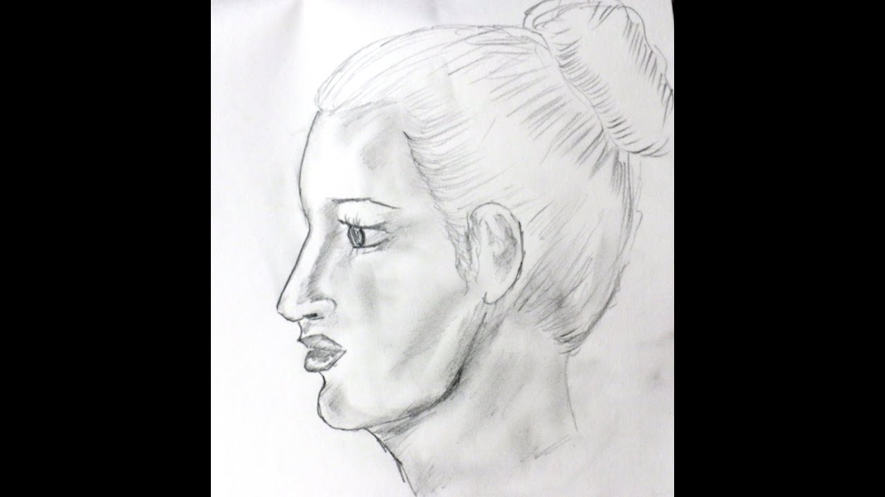 How to draw a realistic face side view easy face drawing tutorial youtube