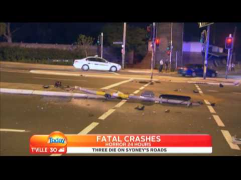 (Fair Use of material) ninemsn news - fatal motorcycle crash