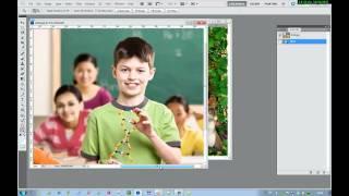 Как вставить фото в шаблон в фотошопе