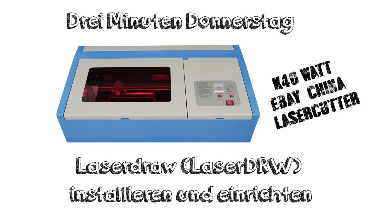 Laserdraw in 3 Minuten installieren und einrichten | K40 Ebay China Laser  Cutter | Deutsch