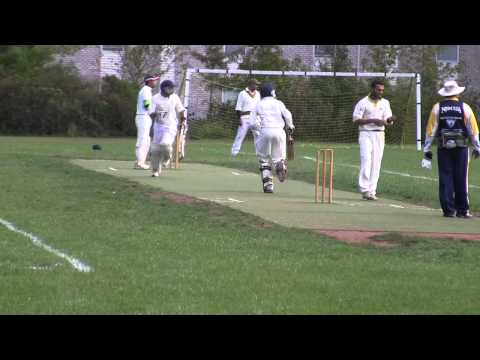 Stars Cricket Club bowling vs Essex Eagles in a Pink T20 Cricket match
