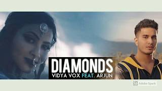 DIAMONDS karaoke with lyrics (VIDYA VOX ft. ARJUN)