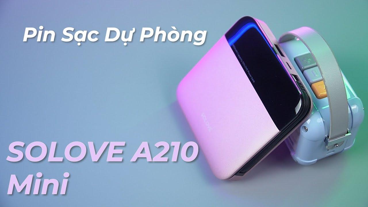 Pin sạc dự phòng 10000mAh SOLOVE A210 Mini - Sạc Mọi Thiết Bị Với 3 Cổng  Micro - Type C - Lighting - YouTube