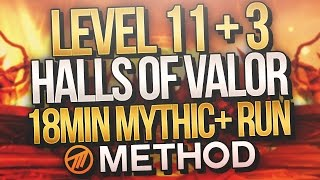 7.2 MYTHIC+ LVL 11 Halls of Valor +3 Chest - Enh Shaman Method Cayna POV