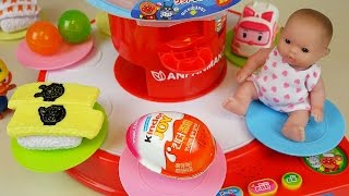 Baby Doll Dish Round food toys and Kinder Joy Surprise eggs