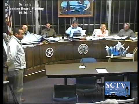 Scituate Planning Board Meeting 10-26-17