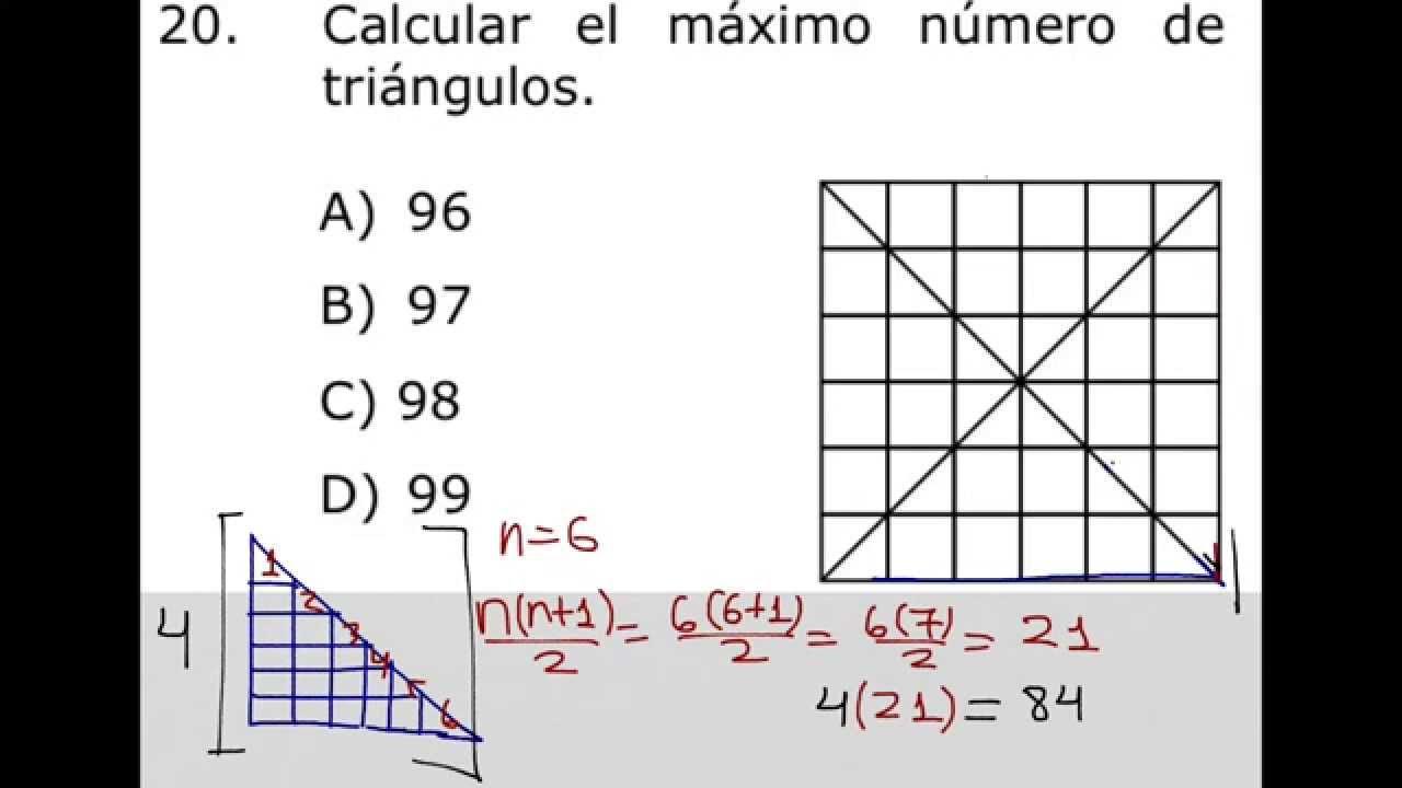 Como contar el máximo número de triángulos en una figura - YouTube