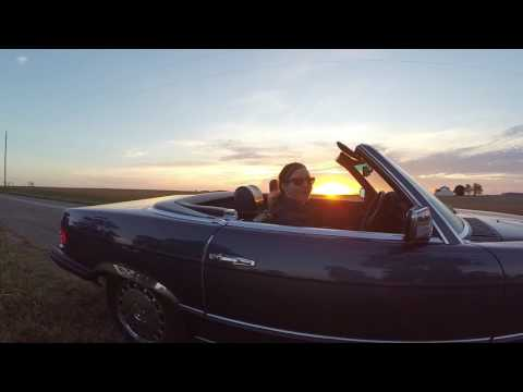 A sunset evening with the 380SL Mercedes