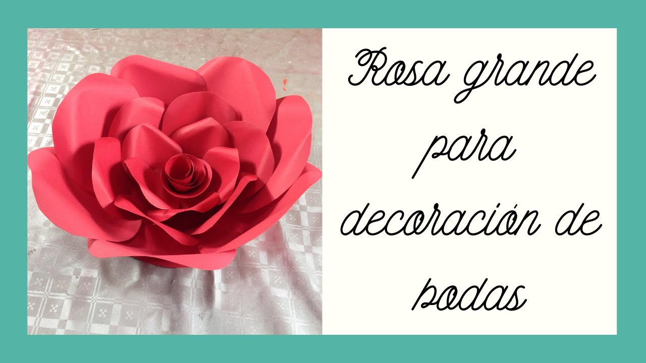Flor grande 1 decoracin de boda Large flower wedding decoration