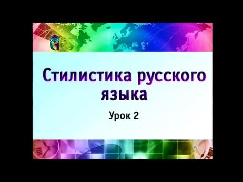 Урок 2. Современный русский литературный язык и его подсистемы. Часть 2